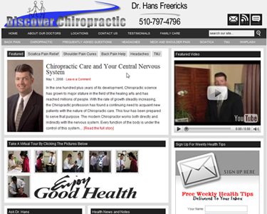 Great Chiropractic Web Design Example